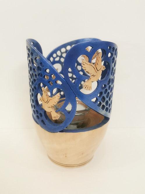 Blue Candle Holder