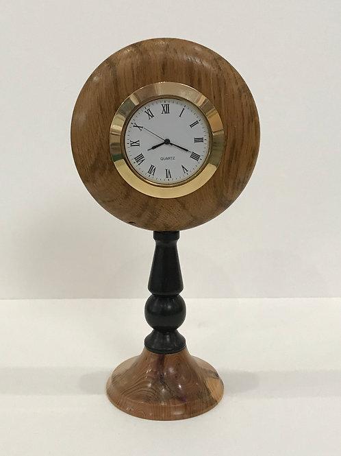 Oak, Mahogany and Ebony Clock