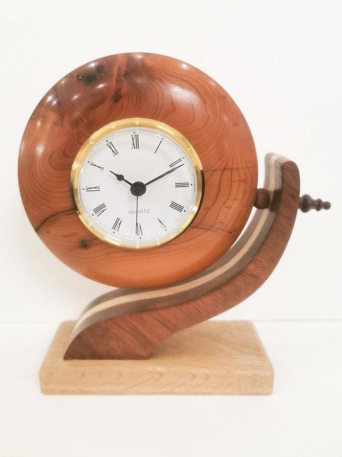 Mahogany, Oak & Yew Clock