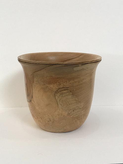 Spalted Beech Wooden Pot