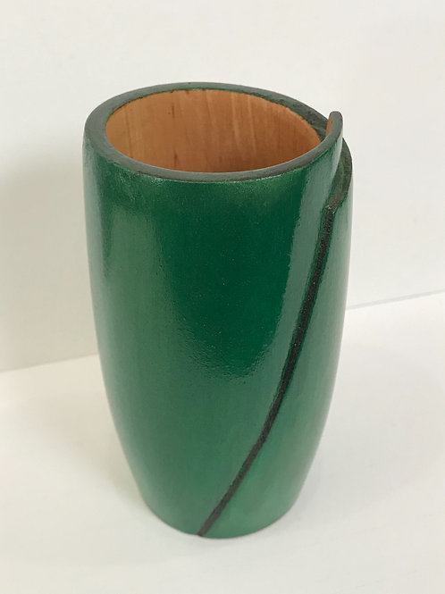 Maple Green Wooden Vase