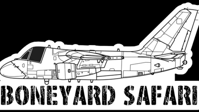 S-3 Boneyard Safari Illustration Sticker