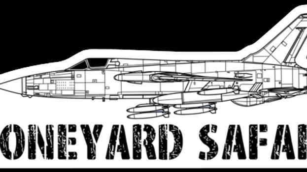F-105 Thunderchief Boneyard Safari Illustration Sticker