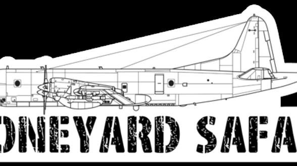 P-3 Boneyard Safari Illustration Sticker