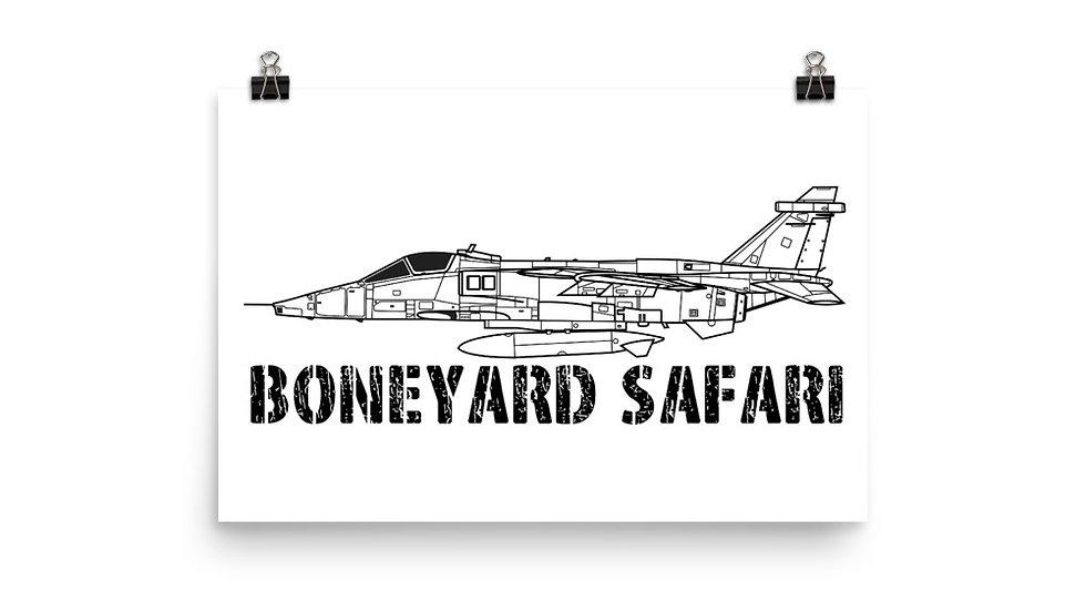 Boneyard Safari SEPECAT Jaguar Poster