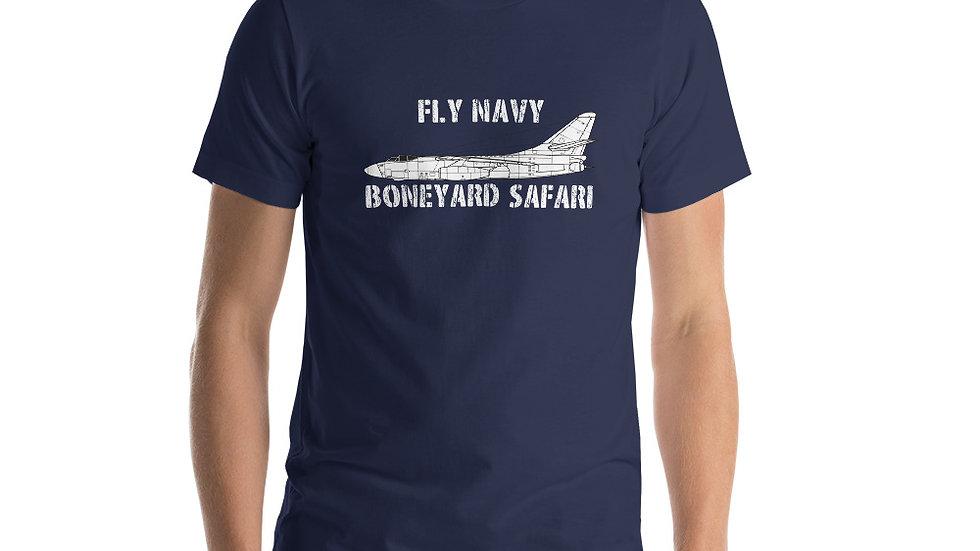 Boneyard Safari Fly Navy A-3 Short-Sleeve Unisex T-Shirt