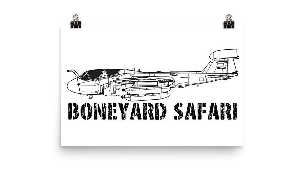 Boneyard Safari EA-6B Prowler Poster