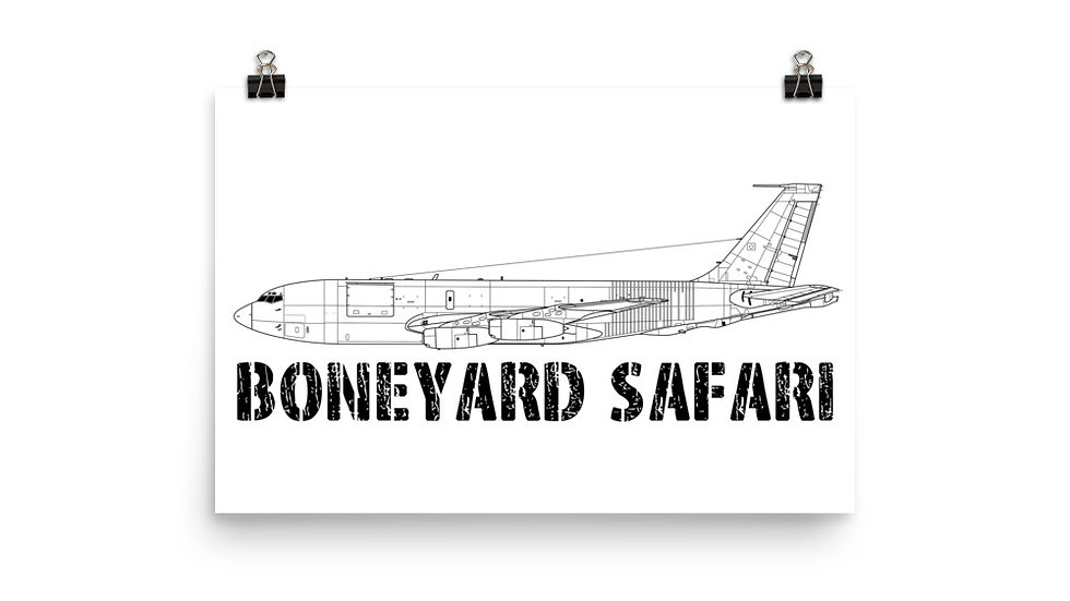 Boneyard Safari KC-135E Poster