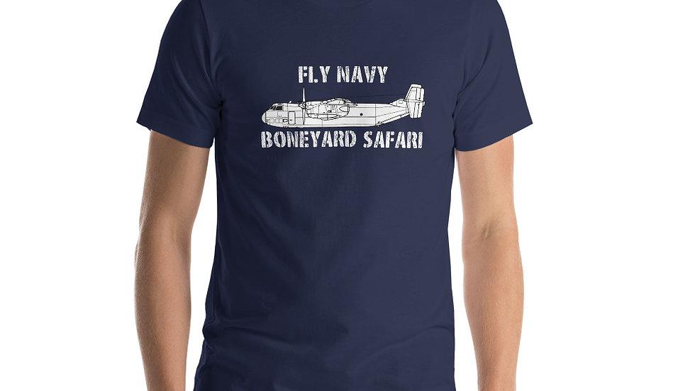 Boneyard Safari Fly Navy C-2A Short-Sleeve Unisex T-Shirt