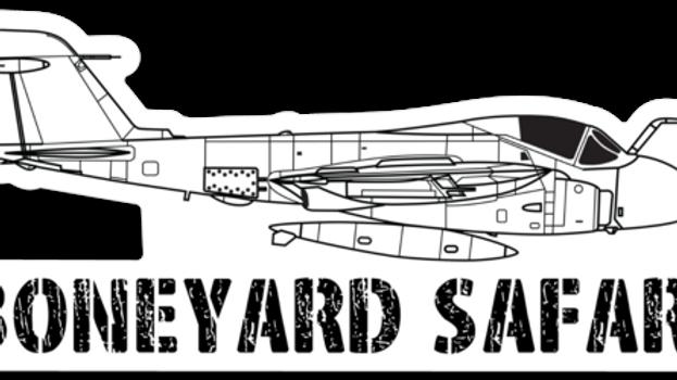 A-6 Intruder Boneyard Safari Illustration Sticker