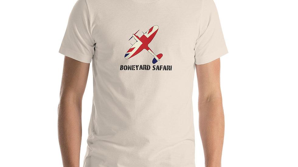 Boneyard Safari Spitfire Union Jack Short-Sleeve Unisex T-Shirt