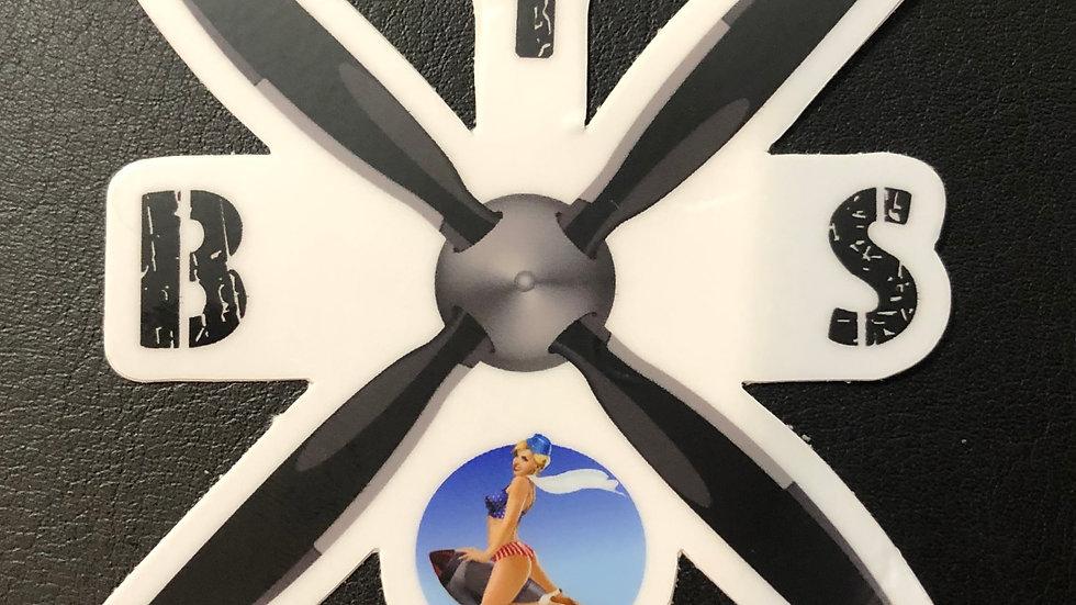 "Proper Boneyard Safari 3"" Sticker -1"