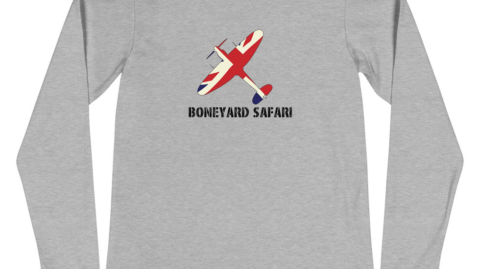 Boneyard Safari Union Jack Spitfire Unisex Long Sleeve Tee