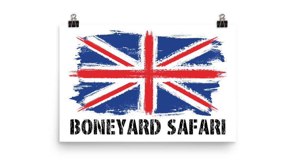 Boneyard Safari Union Jack Poster