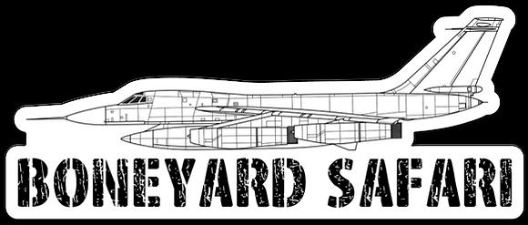 B-58 Boneyard Safari Illustration Sticker