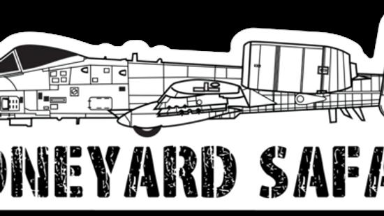 A-10 Warthog Boneyard Safari Illustration Sticker