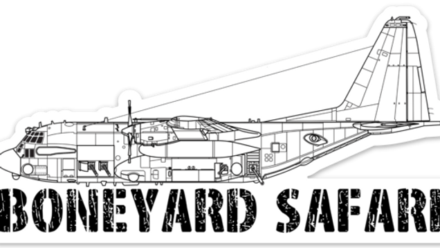 AC-130H Boneyard Safari Illustration Sticker