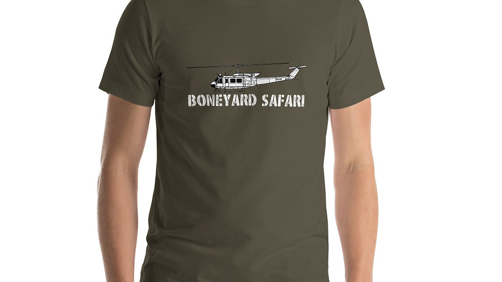 Boneyard Safari UH-1H Short-Sleeve Unisex T-Shirt