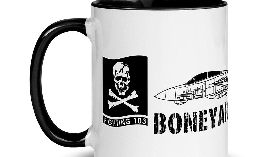Boneyard Safari VF-103 F-14 Mug with Color Inside