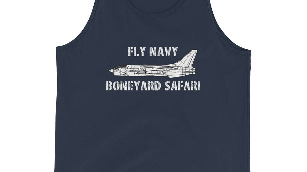 Boneyard Safari Fly Navy F-8 Unisex Tank Top