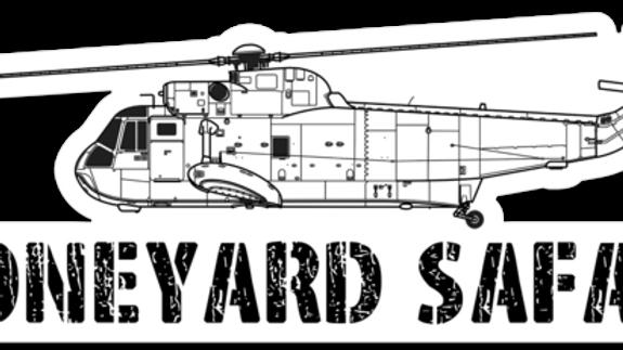 SH-3 Boneyard Safari Illustration Sticker