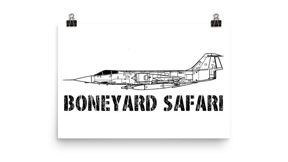 Boneyard Safari F-104 Poster