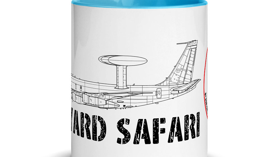Boneyard Safari E-3A Coffee Mug with Color Inside