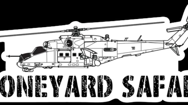 Mi-24 Hind Boneyard Safari Illustration Sticker