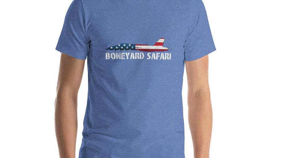 Boneyard Safari F-18 Flag Short-Sleeve Unisex T-Shirt