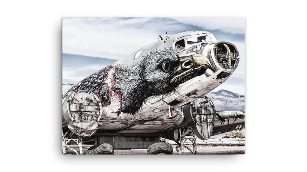 Boneyard Safari Screaming Eagle Canvas