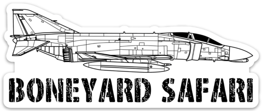 F-4 Boneyard Safari Illustration Sticker