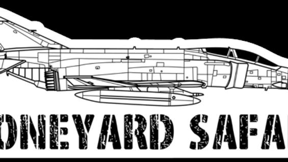 F-4 Boneyard Safari Illustration Sticker