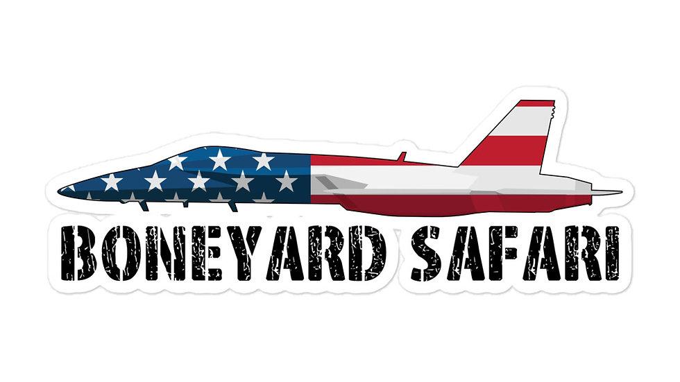 Boneyard Safari F-18 American Flag sticker