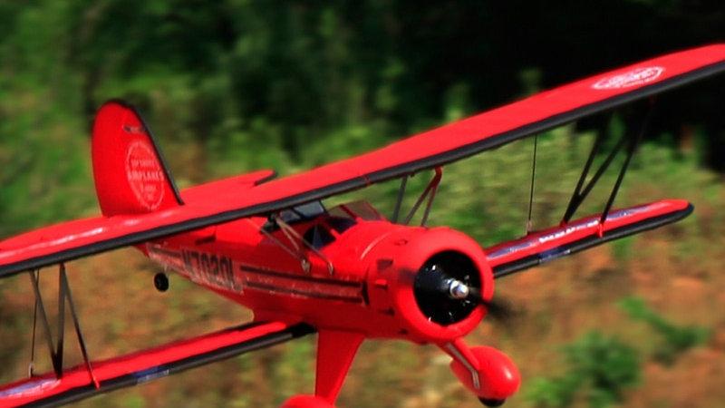 WACO YMF-5D V2 2.4G 6CH 1270mm Wingspan EPO Biplane Model Building RC Airplane