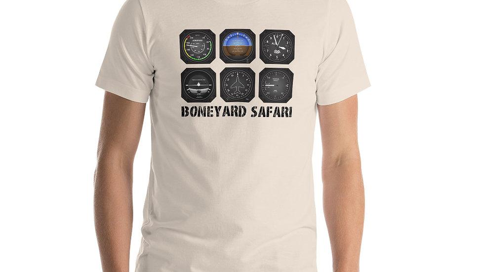 Boneyard Safari Instrument Cluster Short-Sleeve Unisex T-Shirt