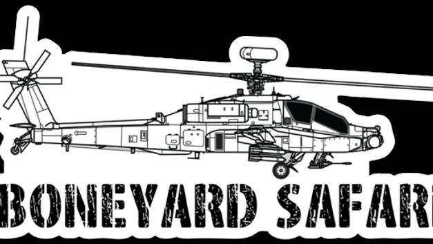 AH-64E Apache Boneyard Safari Illustration Sticker