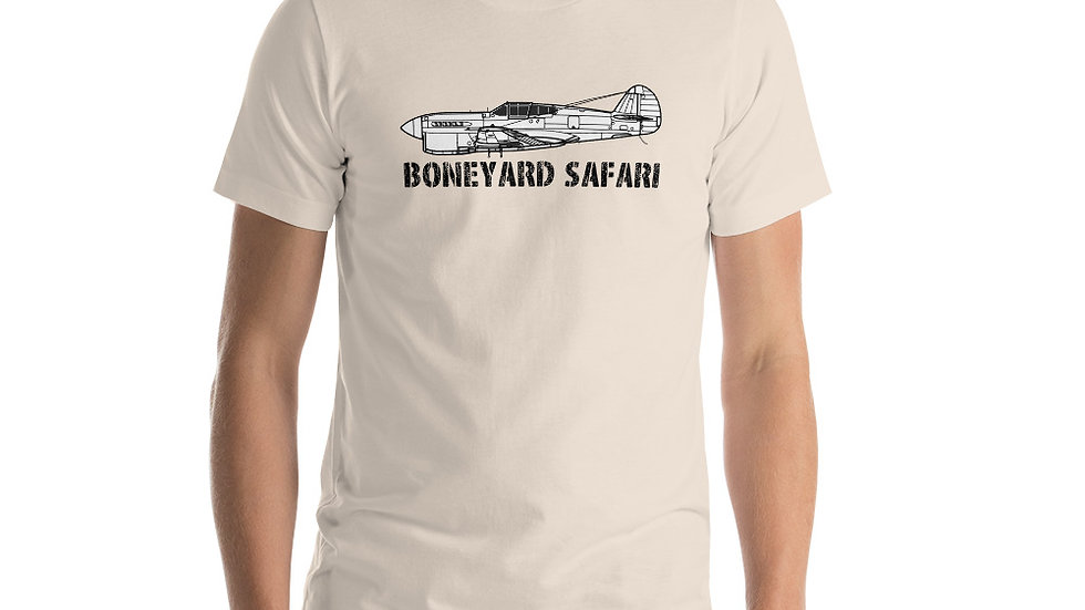 Boneyard Safari P-40F Short-Sleeve Unisex T-Shirt