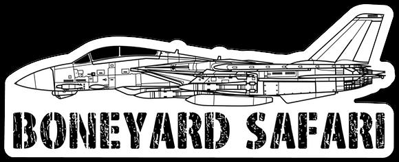 F-14 Boneyard Safari Illustration Sticker