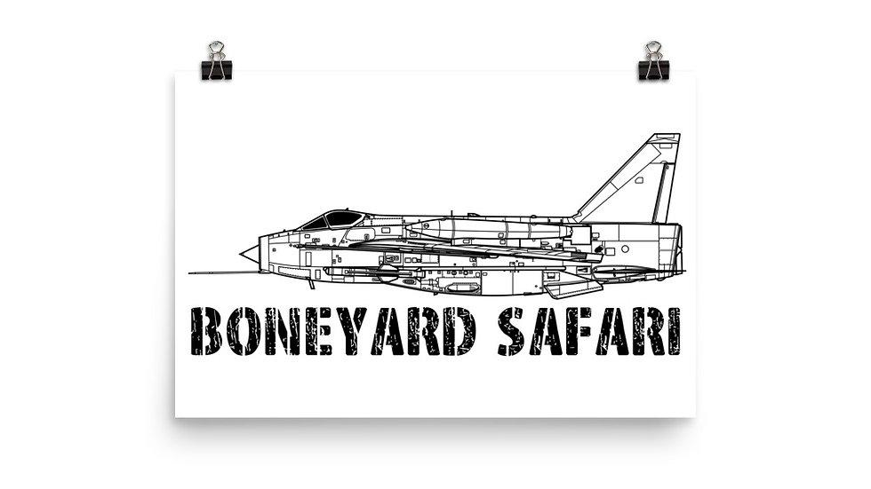 Boneyard Safari Lightning F.Mk 6 Poster