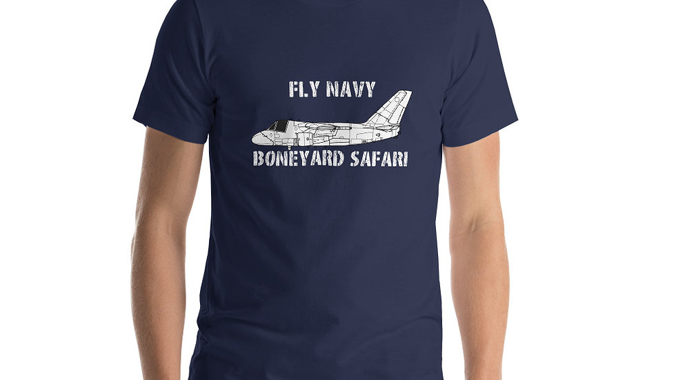 Boneyard Safari Fly Navy S-3 Short-Sleeve Unisex T-Shirt