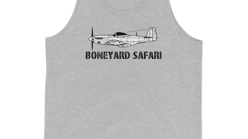Boneyard Safari P-51 Unisex Tank Top