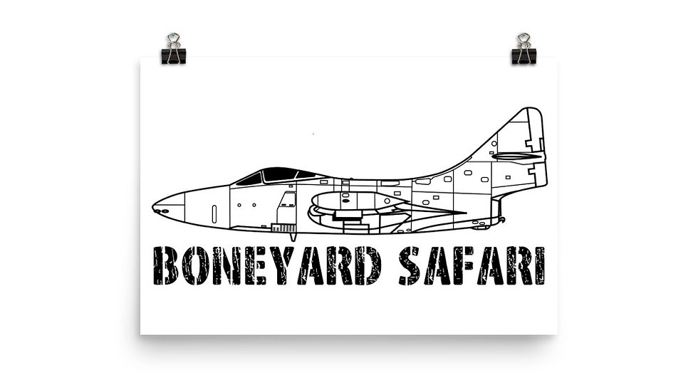 Boneyard Safari F-9F Panther Poster