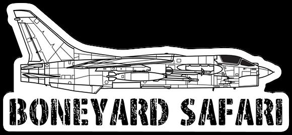 F-8 Crusader Boneyard Safari Illustration Sticker