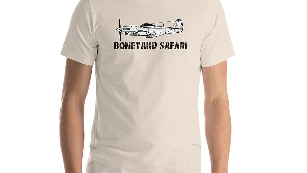Boneyard Safari P-51 Short-Sleeve Unisex T-Shirt