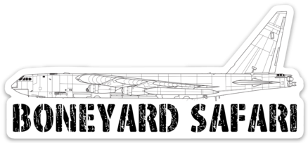 B-52D Boneyard Safari Illustration Sticker