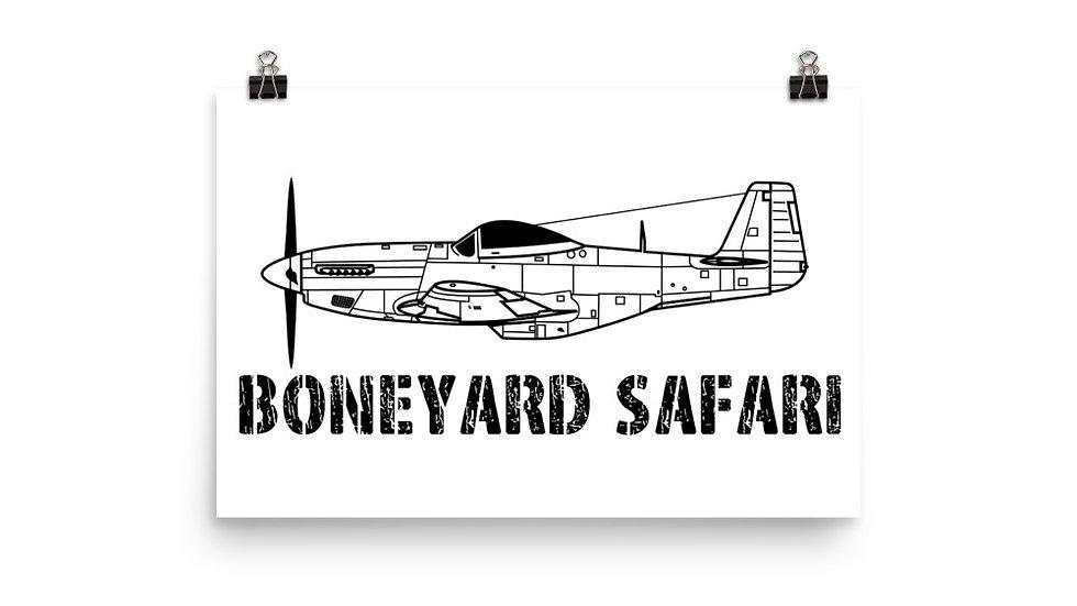 Boneyard Safari P-51 Poster