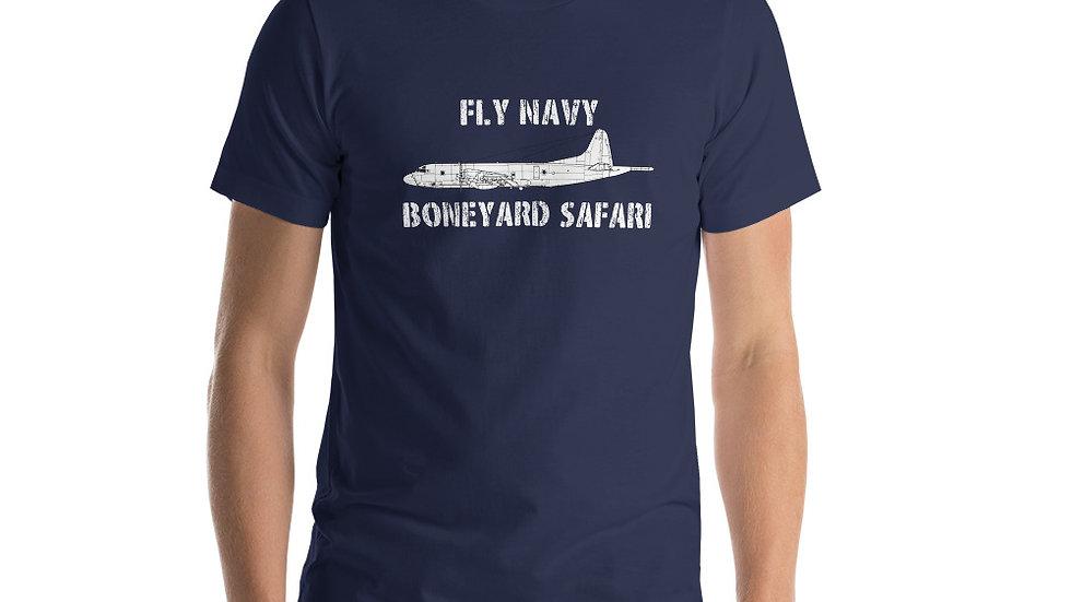 Boneyard Safari Fly Navy P-3 Short-Sleeve Unisex T-Shirt