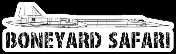 SR-71 BlackBird Boneyard Safari Illustration Sticker