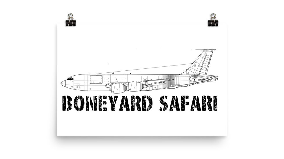 Boneyard Safari KC-135R Poster