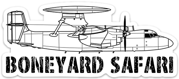 E-2C Hawkeye Boneyard Safari Illustration Sticker